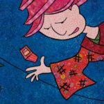 close-up detail of Tokyo - Wish You Were Hair, art quilt by Pam RuBert