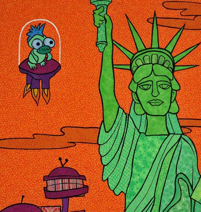 Green Lady Liberty