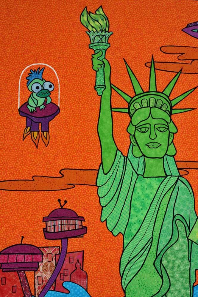 Green Lady Liberty