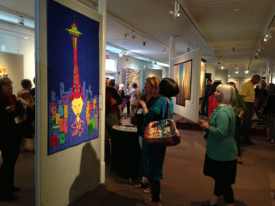 Quilt National 2013 opening at the Dairy Barn Arts Center